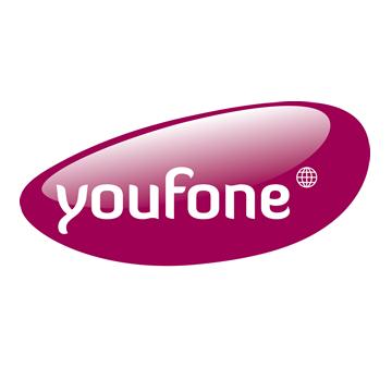 100 min/sms  +1000 Mb internet voor maar € 9,- bij Youfone